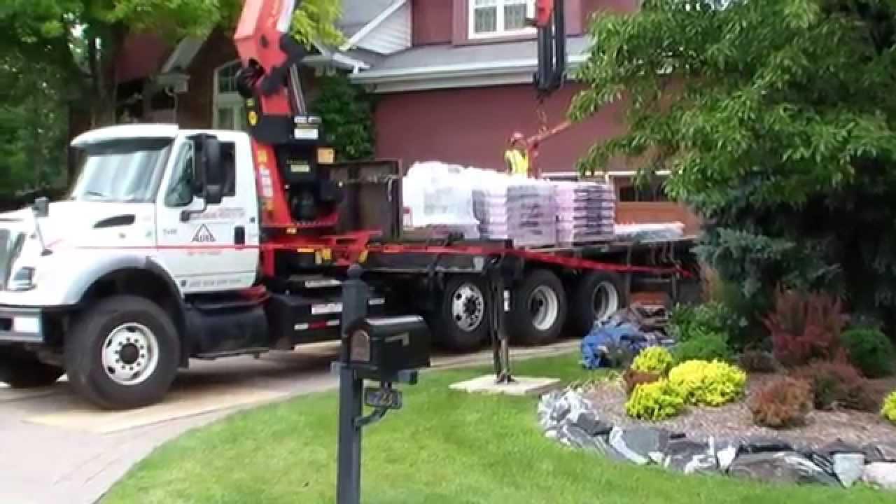Asphalt Shingle Rooftop Delivery Youtube