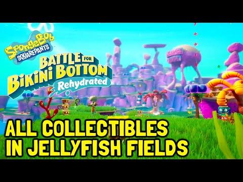 SpongeBob Battle For Bikini Bottom Rehydrated All Collectibles In Jellyfish Fields