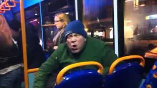 """YOU WANT WAR?!""- Racist Old Man on the Bus"