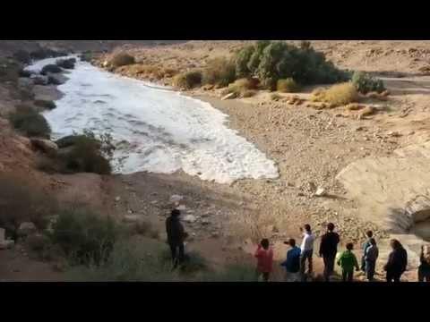 גל ראשון שיטפון בנגב נחל צין Flash Floods – Zin River