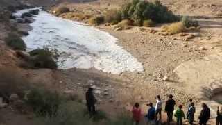גל ראשון נחל צין Flash Floods – Zin River