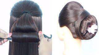 Magic Lock Puff Bun 2020,  hairstyle for saree,  juda hairstyle,  wedding hairstyles