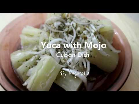 Yuca with Mojo, a vegan Cuban dish