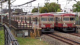 西武多摩川線 新101系 赤電色並び