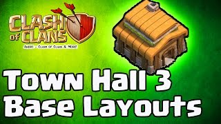 Clash of Clans - BEST NEW Town Hall Level 3 (TH3) Trophy Base Layouts