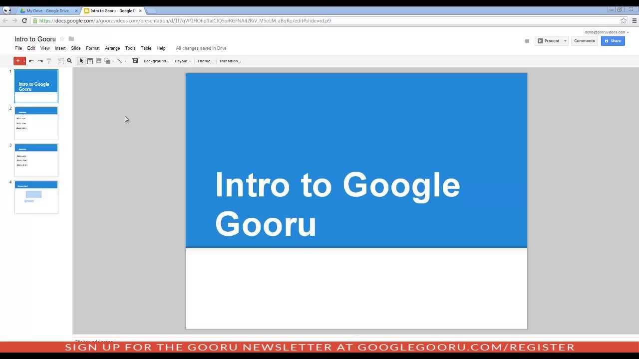 Introduction to Google Slides - YouTube
