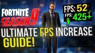 🔧 FORTNITE Battle Royale Season 9: Dramatically increase performance / FPS with any setup! Season 9