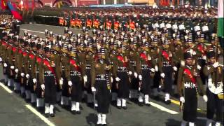 Indian army march at Victory Day Parade,Russia 2015 (HD)