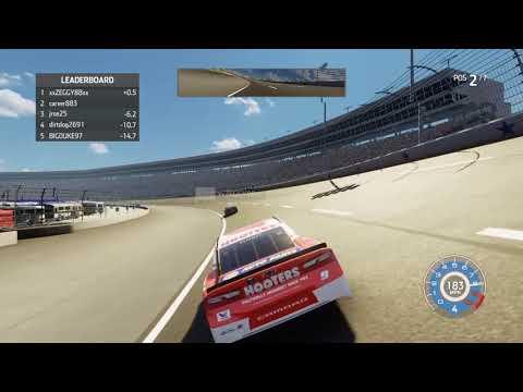 NASCAR Heat 3 last lap pass #enascarheat |