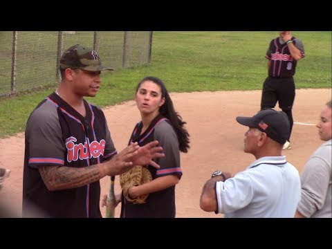 Indeed Lightening vs NBC Sports Peacocks - Coed Softball Playoffs - Video Highlights - Aug 22, 2017