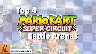 top 4 mario kart super circuit battle arenas
