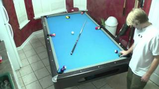 Single Player Pool Game, one person billiards game, pool lessons, billiards instruction