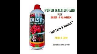 Pupuk Anti Layu Rontok kalsium cair  plus boron magnesium Kalsitor Calsium 1 Liter