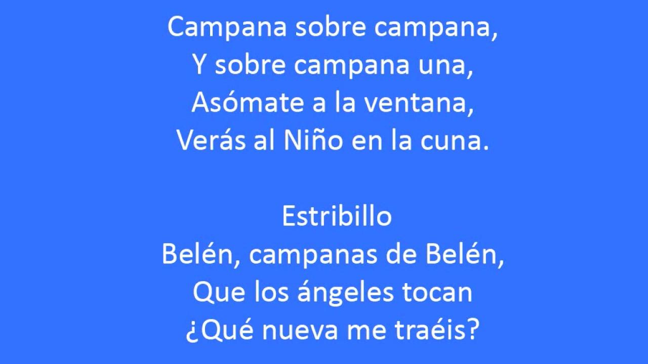 Campana Sobre Campana Letra Letra De Spanish Canción De Navidad Youtube