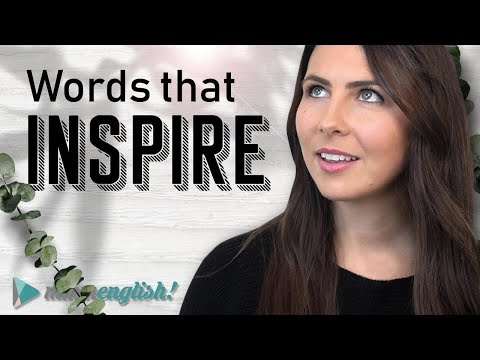 Advanced English Vocabulary - Words to INSPIRE ✨