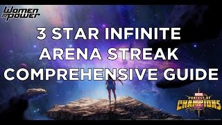 3 star infinite arena streak comprehensive guide full run through marvel contest of champions