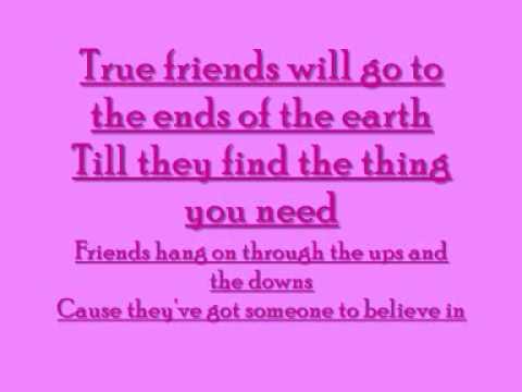 TRUE FRIENDS - LYRICS - YouTube