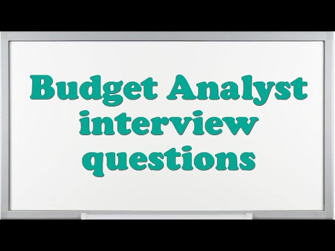 Budget Analyst interview questions - YouTube