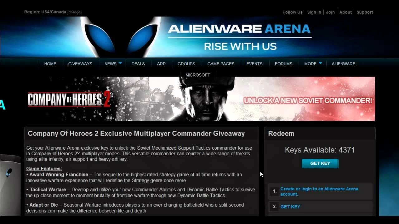 Us alienware arena giveaways