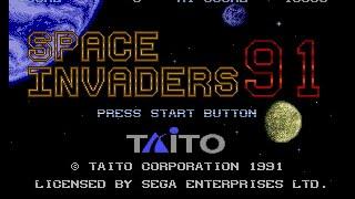 Mega Drive Longplay [204] Space Invaders '91