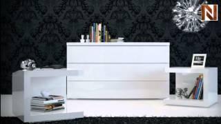 Modloft Md317-dr-laq Ludlow Dresser White Lacquer