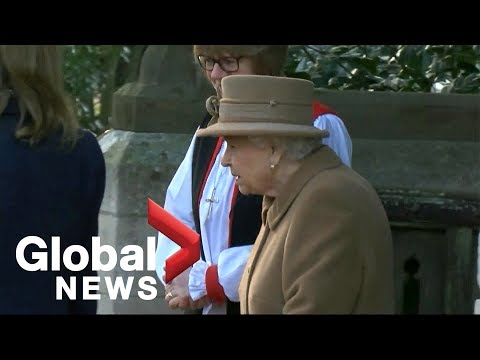 Queen Elizabeth II attends church without Prince Philip