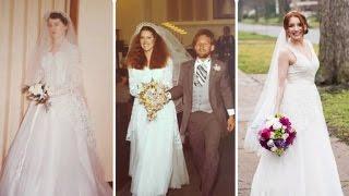 Grandpa Walks Brides Down Aisle In Same Wedding Dress for Three Generations