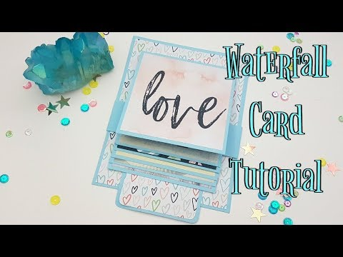 Waterfall Card Tutorial / Interactive Mini Album piece