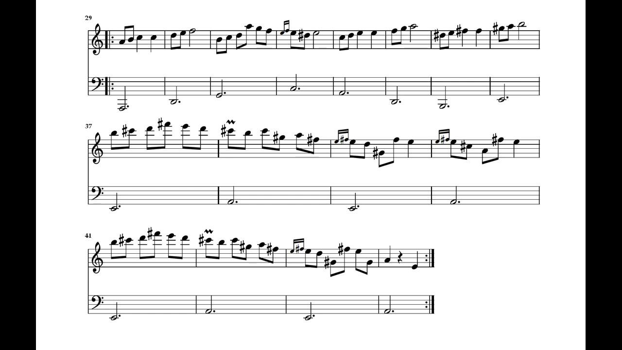 Chopin Waltz In A Minor Op Posth Violin Accomp