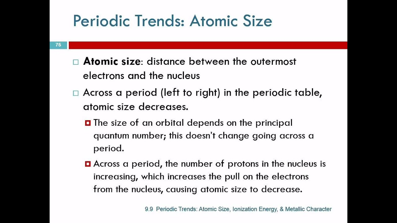 99 periodic trends atomic size ionization energy metallic 99 periodic trends atomic size ionization energy metallic character urtaz Choice Image