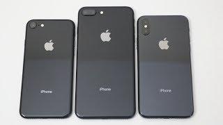 iPhone 8 vs iPhone 8 Plus vs iPhone X