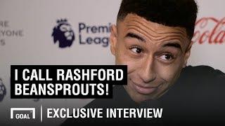 I call Rashford 'Beansprouts' - Jesse Lingard