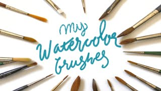 All of My Watercolor Brushes | DaVinci, Escoda, Raphael , and more!