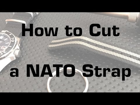 Nick's Quick Tips: How to cleanly cut a NATO or ZULU watch strap down to size