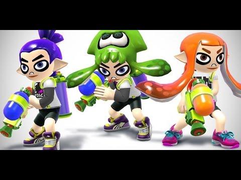 SSB4 Splatoon DLC Mii Costumes - Inklings - Super Smash Bros. 4 Wii U