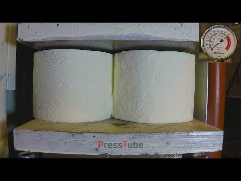 Thumbnail: 4 Toilet Paper Rolls in hydraulic press | Pressure Gauge