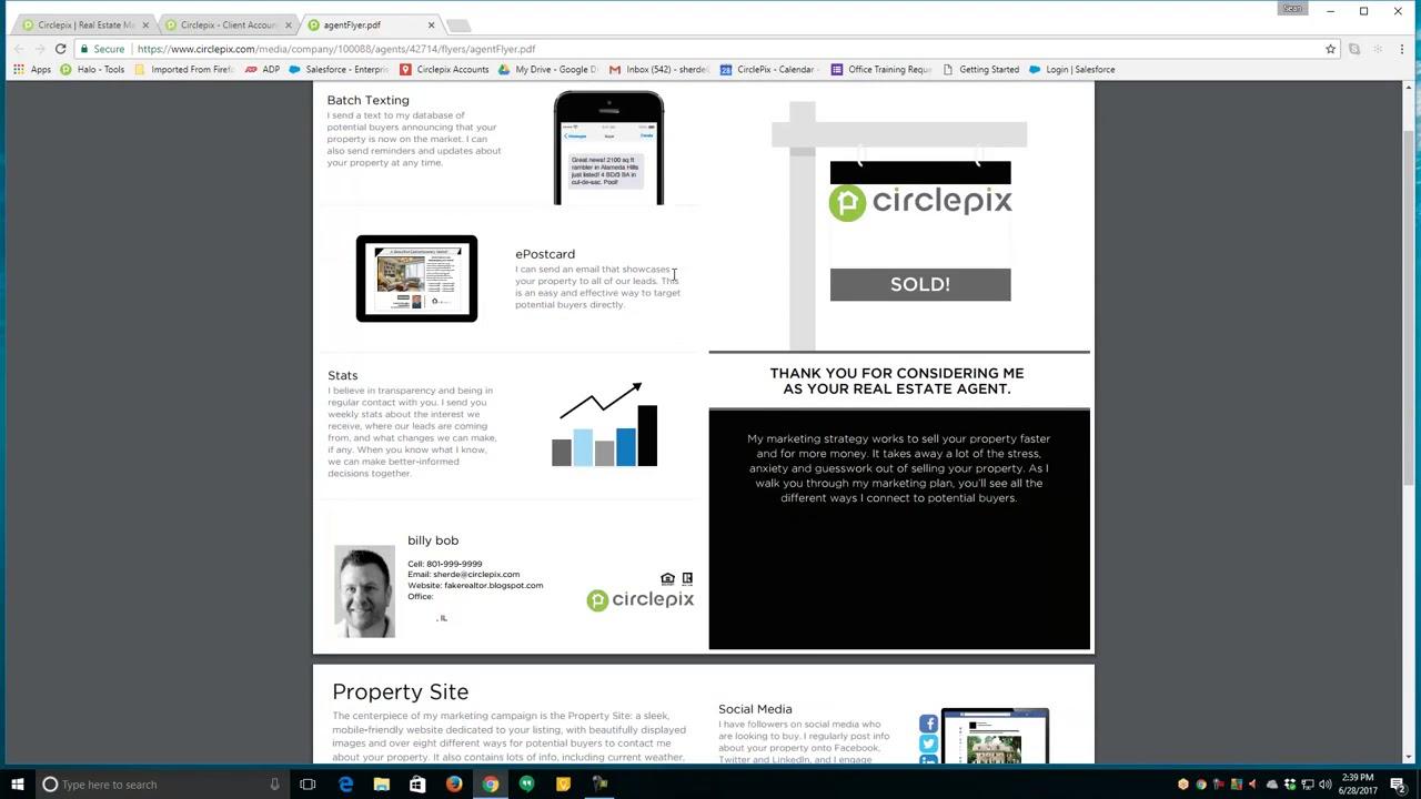 Circlepix Listing Presentation Flyer | Circlepix