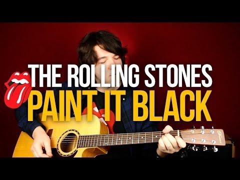 Как играть Paint It Black The Rolling Stones простой разбор на акустике для начинающих - Первый Лад