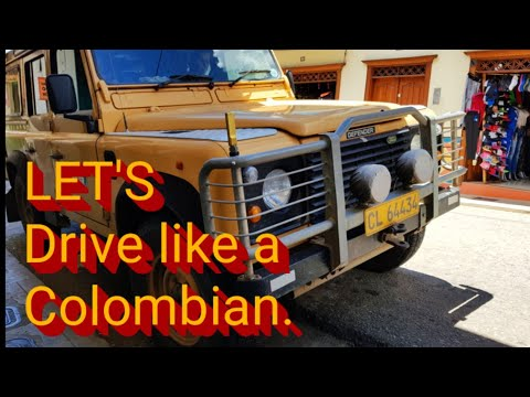 LET'S Drive Like A Colombian. Land Rover Defender 300tdi.