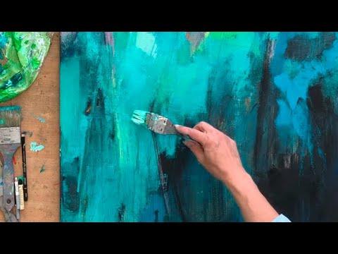 abstrakte Malerei, Acryl, easy, für Anfänger, Demo simple Werkzeuge