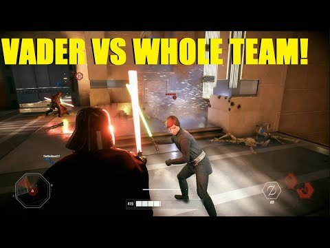 Star Wars Battlefront 2 - Darth Vader vs entire enemy team! 1vs4, no problem! thumbnail