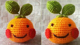 crochet amigirumi || crochet fruit amigurumi || crochet orange amigurumi