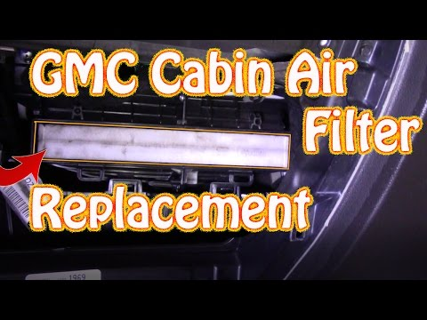 DIY How to Replace a Cabin Filter on a GMC Sierra \ Chevy Silverado - Passenger Compartment Filter