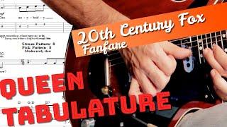 20th century fox fanfare Guitar lesson tutorial TAB Brian May
