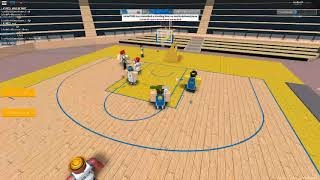 STILL ON FIRE! (Roblox Hoops 76 point game Quarter 4)