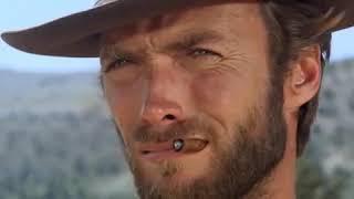 """Сцена тройной дуэли из фильма """"Хороший, плохой, злой"""" 1966 г. Клинт Иствуд."""