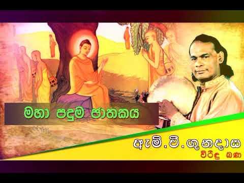 Download මහ පදුම ජාතකය | Viridu Bana | M V Gunadasa