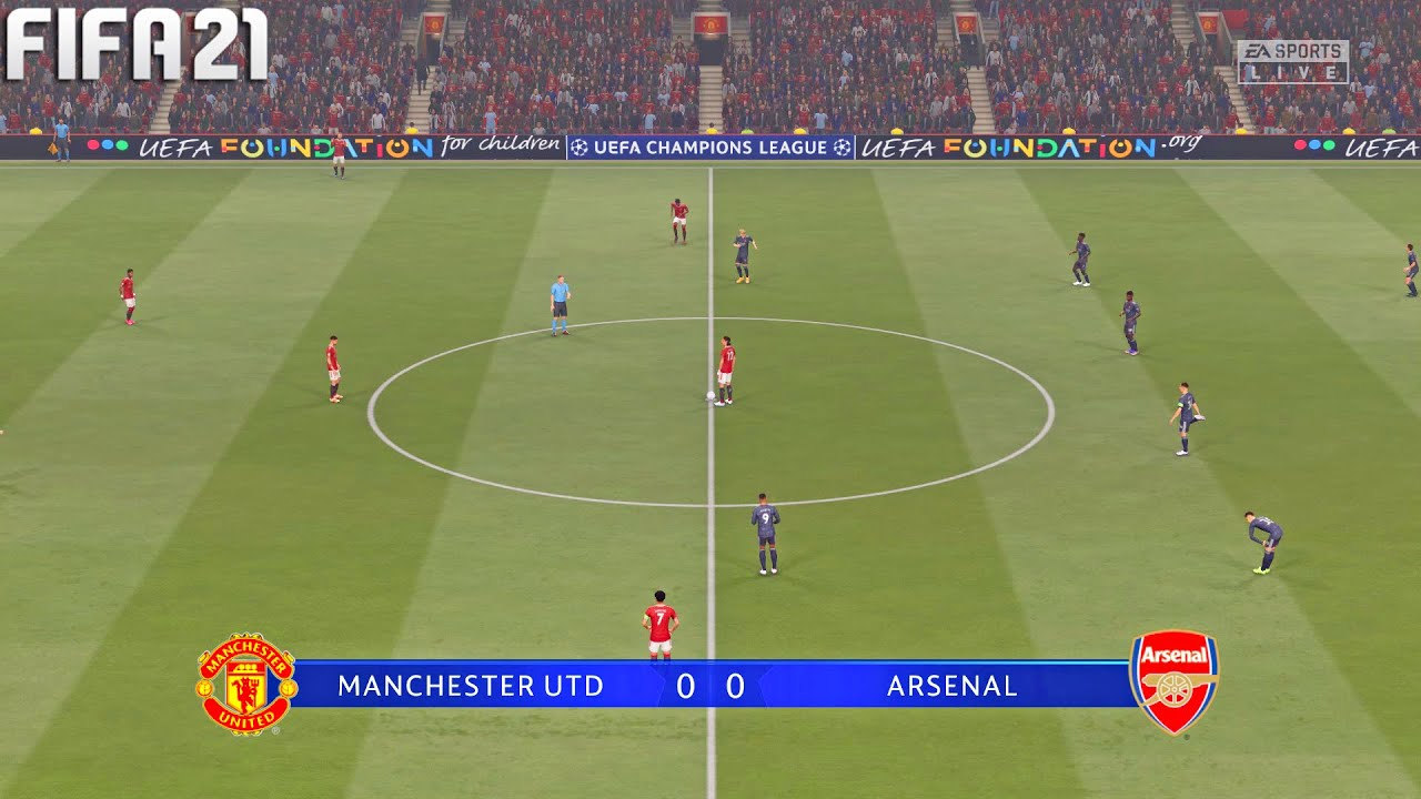 FIFA 21 | Manchester United vs Arsenal - Champions League - Full Gameplay