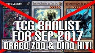 Video Yu-Gi-Oh! TCG Banlist Sep 2017 Forbidden & Limited List Updated! - True Draco, Zoo, & Dinos Hit! download MP3, 3GP, MP4, WEBM, AVI, FLV September 2017