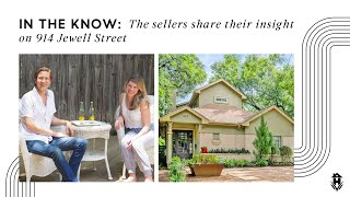 Owner Insights:  The sellers share their thoughts on 914 Jewell Street